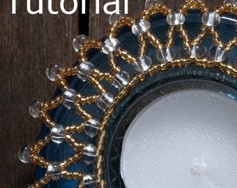 Beaded Tealight Holder Instructions - Instant Download