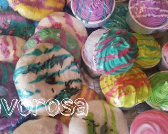 Bubble bath-donut and cupcake bath bomb