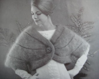 1960's Vintage Knitting Pattern Women's Sleeved Stole PDF Pattern 1270