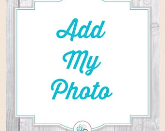 Add your own photo, photo add-on option, photo, make it a gift
