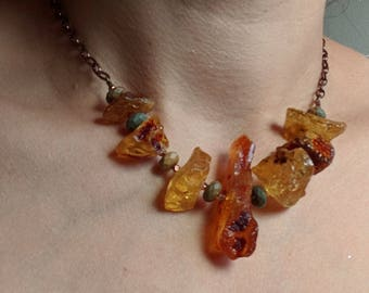 Copper and Amber choker