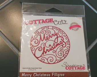 Cottage Cutz Merry Christmas Filigree Die