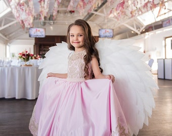 Angel wings costume for kids, form N6 (heart)