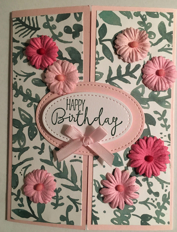 Best Wishes Center Open Birthday Card