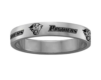 High School Class Rings | Stainless Steel | 4mm, 6mm and 8mm Widths | Band Style Graduation Rings | Custom High School Rings