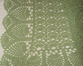 Crocheted Green Baby Afghan (bk109)