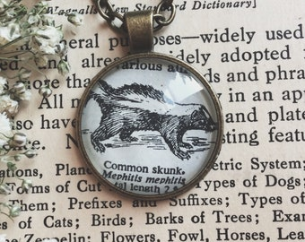 skunk necklace - skunk keychain - skunk gift - skunk lover