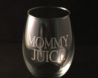 Mommy Juice Stemless Wine Glass