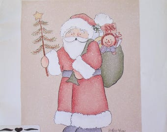 """Folk Art Decorative book """" All The Happy Holidays Vol 1"""" by Pat Olson 54 pages 1989 used book"""