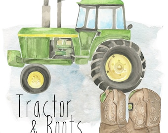 Tractor & Boots - 3 Image Set
