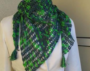Triangular scarf, Häkeltuch, scarf