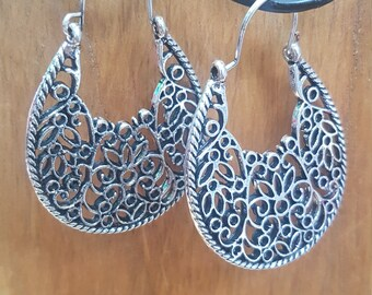 Hill Tribe Lotus Earrings