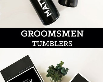Groomsmen Gift Ideas Personalized Sports Water Bottle Groomsmen Tumbler Groomsman Water Bottle Best Man Gift Ideas Groom Gift (EB3118GM)