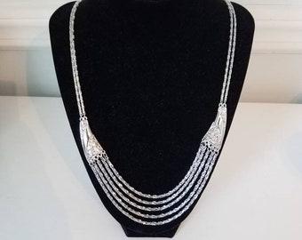 Trifari Silver Tone Necklace