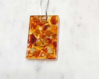 Resin Pendant From Baltic Amber