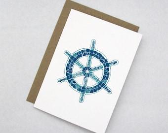 Boat Wheel Note Card