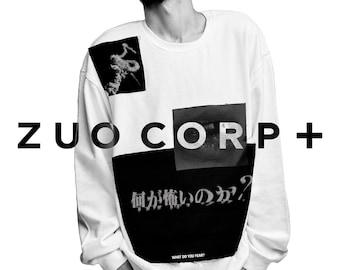 ZC+ White Multi Patch Sweatshirt