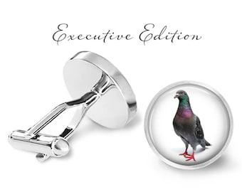 Pigeon Cufflinks - Bird Cuff Links - Wildlife Cufflink - Animal Cufflinks (Pair) Lifetime Guarantee (S0104)