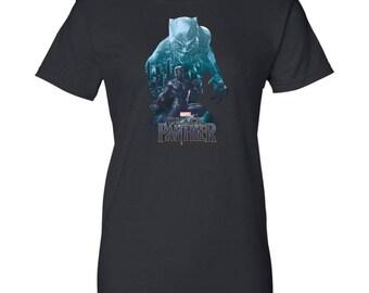 Marvel Black Panther T Shirt Wakandas Finest Shirt Women Cotton T-Shirt