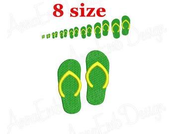 Flip Flops Embroidery Design. Machine Embroidery Design. Flip Flops mini Embroidery Design.