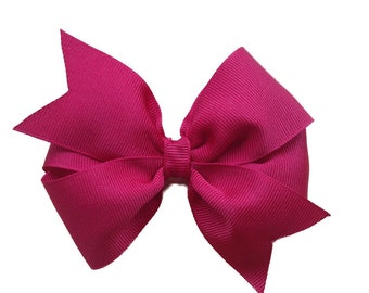 Dark red hair bow - hair bows, bows, hair bows for girls, hair clips, girls bows, toddler hair bows, baby bows, pigtail bows, hairbows