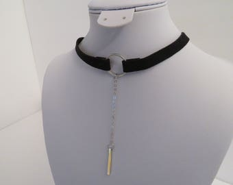 1 layer choker black necklace for women and girls