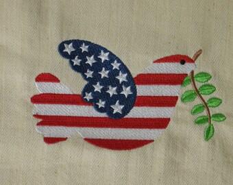 Patriotic Dove Towel