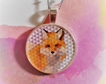 """1"""" Fox triangles necklace"""