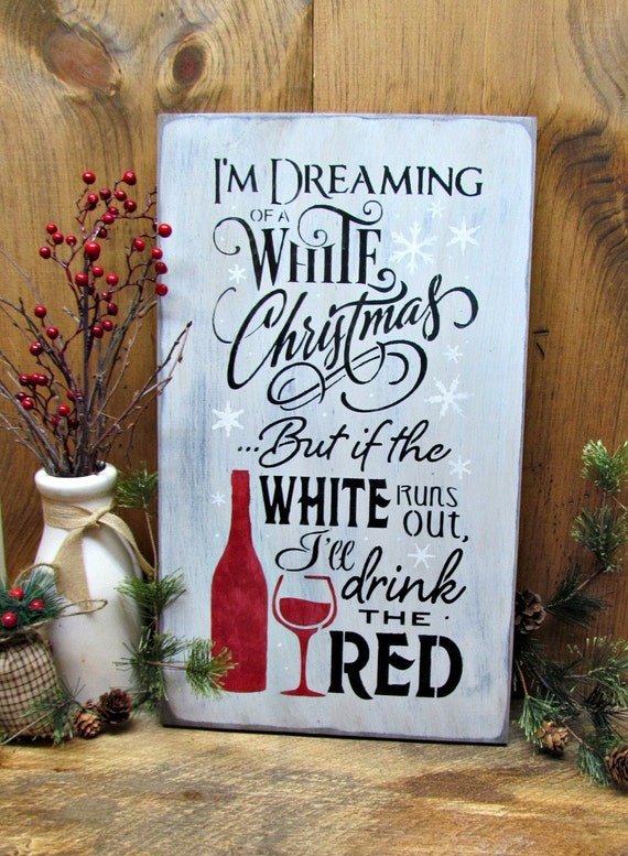 Wine Decor Wooden Wine Sign Holdiay Gift Winter Decor