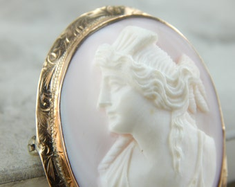 Antique Conch Shell Cameo in  Rose Gold Frame 613ARZ-R