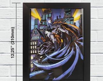 Batman Layered Paper Cut Art