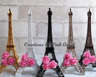 10 inch Black Eiffel Tower Centerpiece, Eiffel Tower Cake Topper, Paris Wedding or Bridal Shower, Paris Birthday or Baby Shower