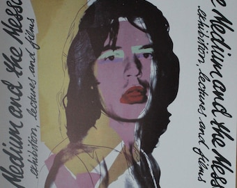 Andy Warhol Lithograph Limited Mick Jagger Rolling Stones Knight Gallery 1974