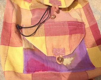 Rainbow coloured rucksack
