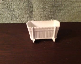 Vintage Milk Glass Cradle Planter