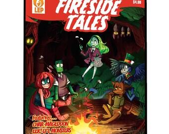 Fireside Tales - Issue #1 - PDF - Digital Copy - Monsters - Comic Book - Indie Comics - Last Ember Press - Super Hero - Robots