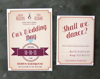 Fred and Ginger - Invitations and RSVPs