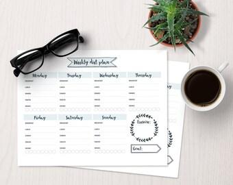weekly food journal template
