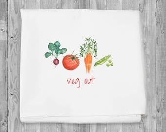 flour sack towel - Veg Out kitchen