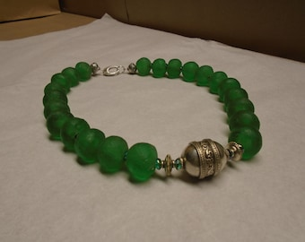 Recycled African Glass Bead Necklace