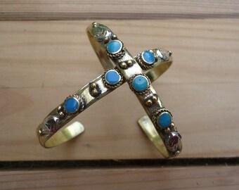Silver Bead Bracelet,Stretch cuff, Yoga Jewelry, Beaded Bracelet, Turquoise stacking bracelet- Turquoise bohemian bracelet- Gypsy jewelry-