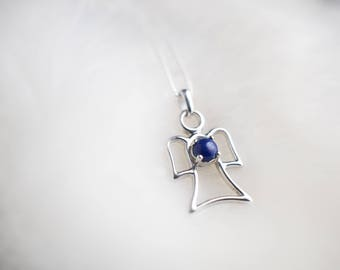 Blue Colour Therapy Angel Pendant Necklace