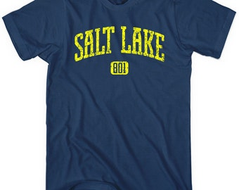 Salt Lake City 801 T-shirt - Men and Unisex - XS S M L XL 2x 3x 4x - Salt Lake City Tee - SLC - 4 Colors