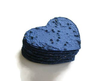 Sympathy gift - Plantable paper heart in blue, made of handmade paper & Chinese Forget-Me-Not seeds - Memorial favor, prayer card, funeral