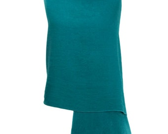 Teal Handmade 100% Pure Cashmere Shawl Wrap Scarf - Pashminas and Wraps - Also available In 36 Other Colours