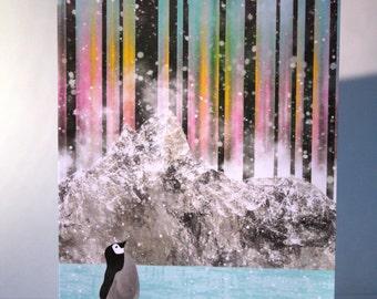 Greeting card : Northern Lights.
