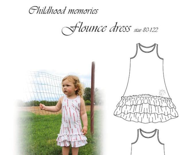 Flounce dress 80-122 (Physical)