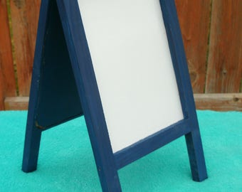 Easel Stand, Hinged Top. Dry Erase White Board and Chalk Board, Write Messages or menu, Mini Easel Stand, Free Shipping