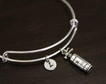 Fire Extinguisher Bangle Bracelet - Fireman Gift - Firewoman Gift - Firefighter - Fireman Wife - I/B/H