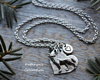 Wolf Necklace, Wolf Jewelry, Wolf Lover Gift, Howling Wolf, Grey Wolf, Timber Wolf, Wolf Spirit Animal